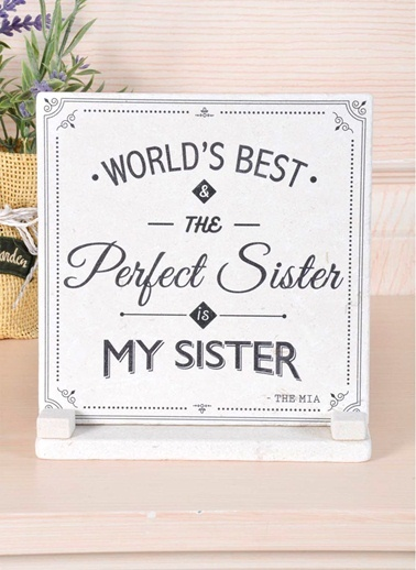 Plaket Mermer - Sister-The Mia